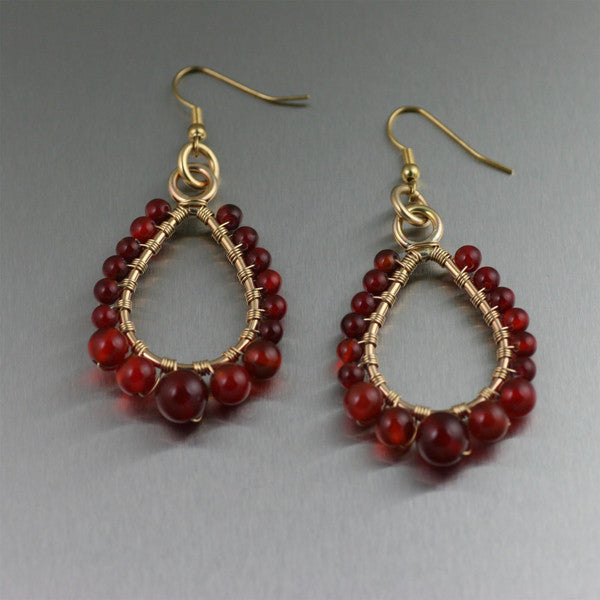 Barbary Coast Beaded Gemstone Earrings