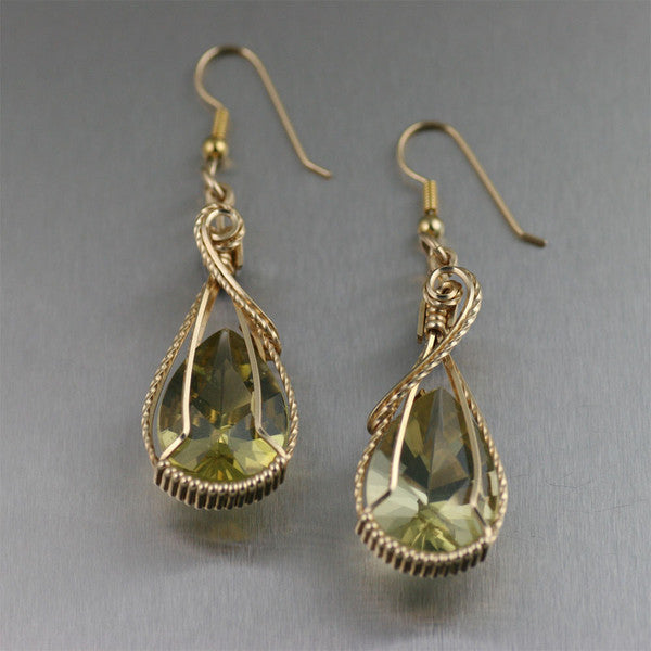 Green Gold Quartz Gemstone Jewelry Collection