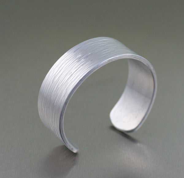 Aluminum Bark Cuff Bracelet – Left View