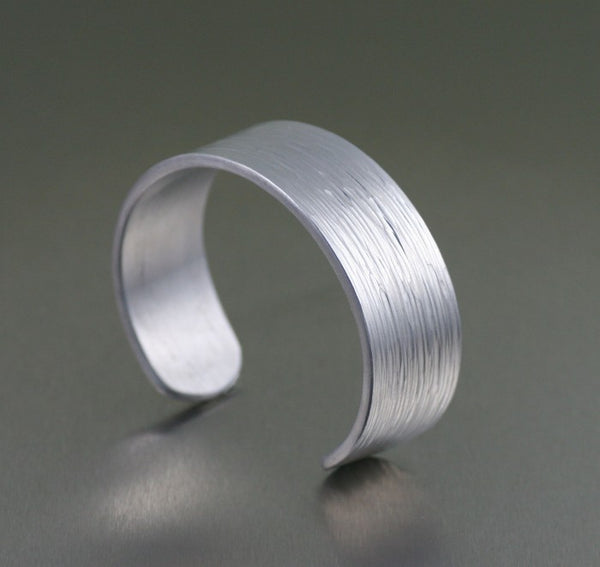 Aluminum Bark Cuff Bracelet – Right View