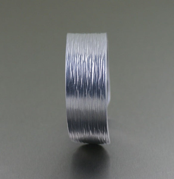 Aluminum Bark Cuff Bracelet – Side View