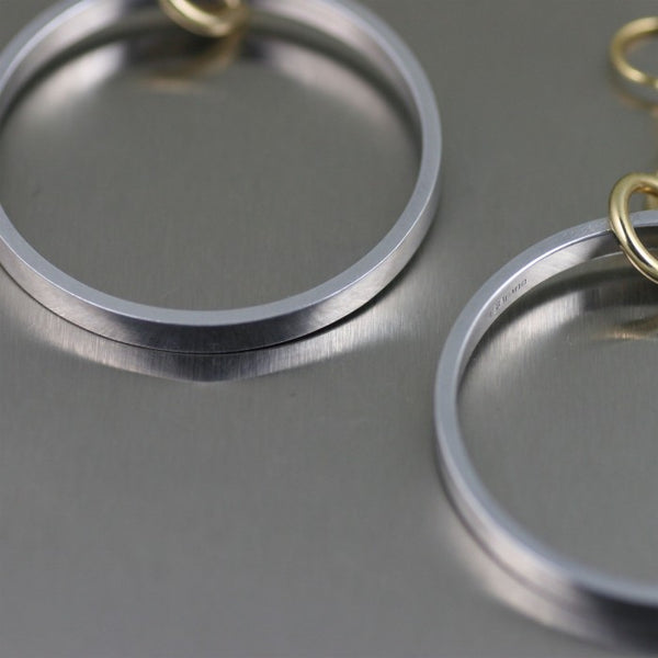 Polished Aluminum Hoop Earrings – Detail