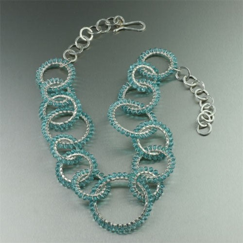 Apatite Wire Wrapped Fine Silver Necklace