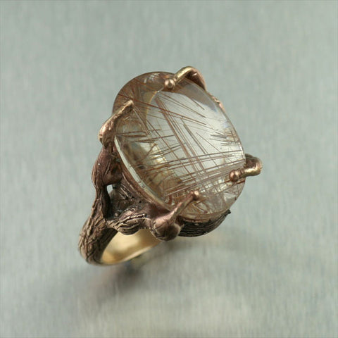 Bronze Rutilated Quartz Ring