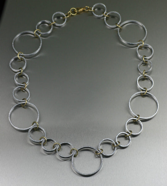 Chased Aluminum Hoop Necklace