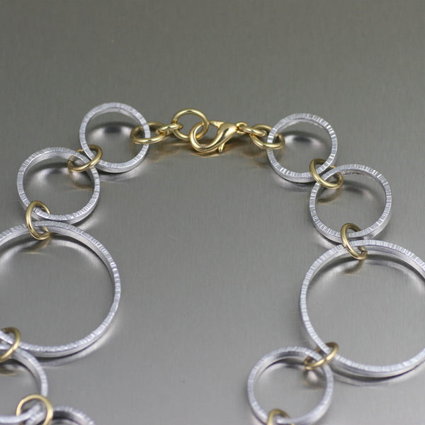 Chased Aluminum Hoop Necklace – Clasp View