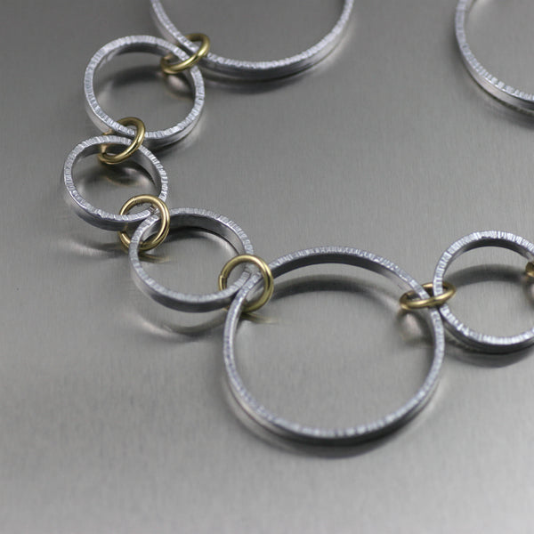 Chased Aluminum Hoop Necklace – Detail View 2