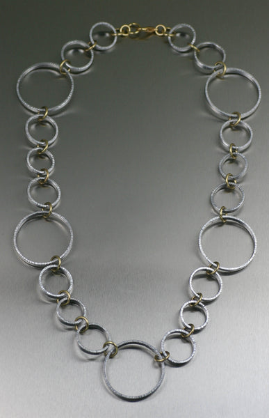 Chased Aluminum Hoop Necklace – View 3