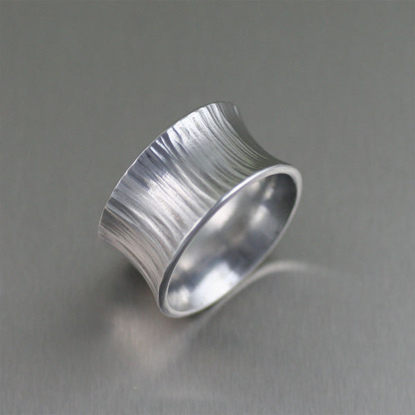 Chased Anticlastic Aluminum Band Ring