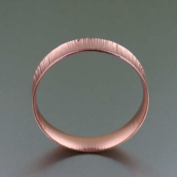 Chased Copper Bangle Bracelet – Front View