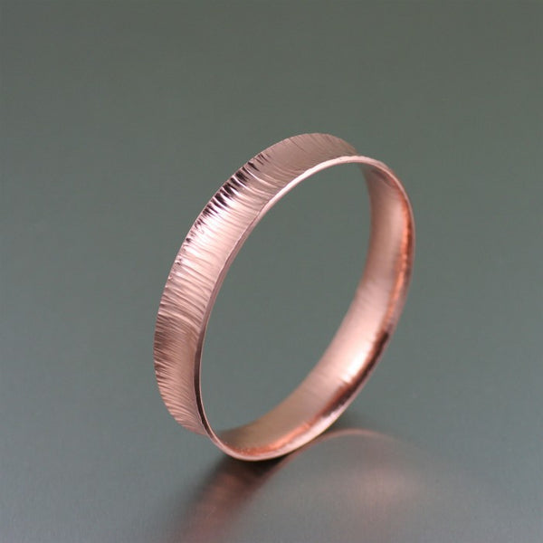 Chased Copper Bangle Bracelet – Left Side View