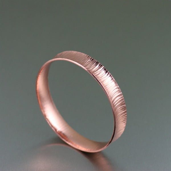 Chased Copper Bangle Bracelet – Right Side View