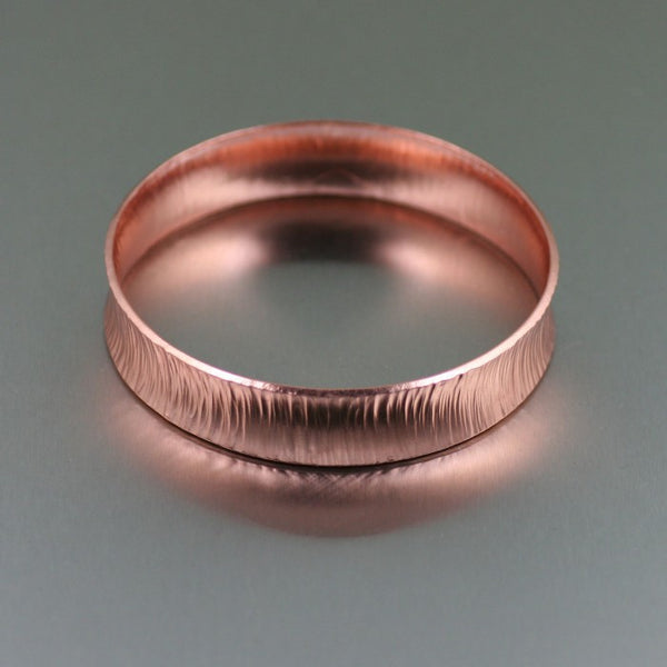 Chased Copper Bangle Bracelet – Side View 2