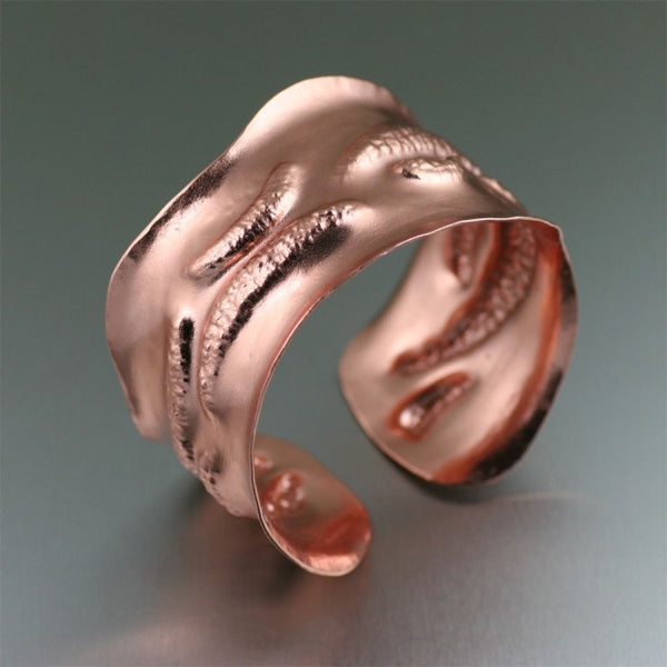 Copper Earthworm Cuff Bracelet