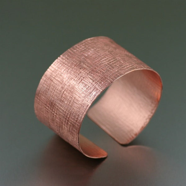 Copper Linen Cuff Bracelet – Left View