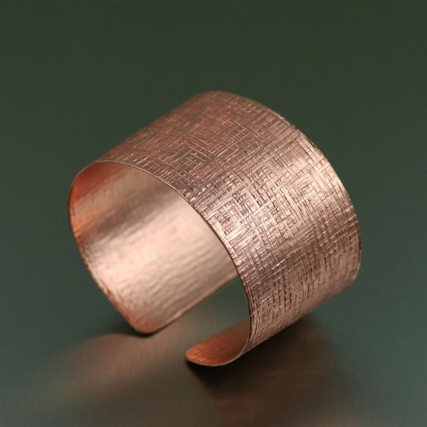 Copper Linen Cuff Bracelet – Right View