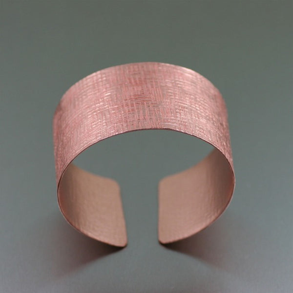 Copper Linen Cuff Bracelet – Top View