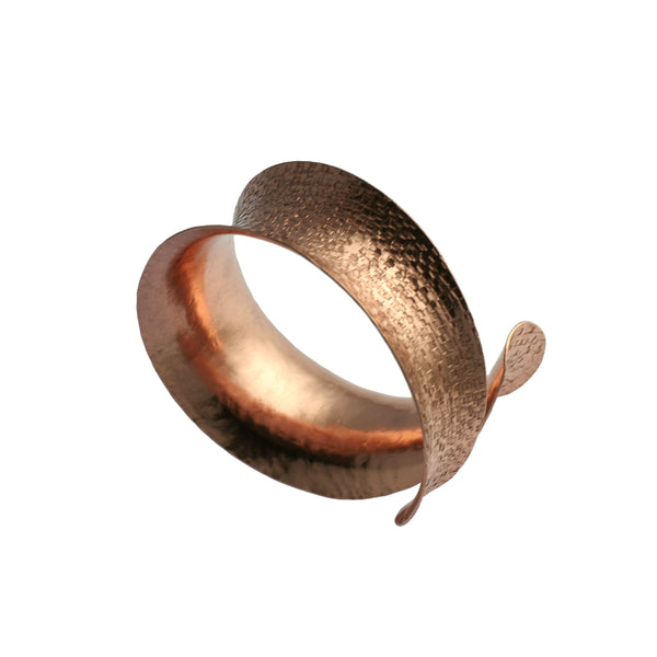 Copper Texturized Anticlastic Cuff