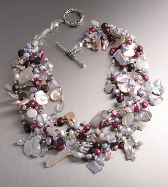 Keishi Cornflake Pearl Necklace