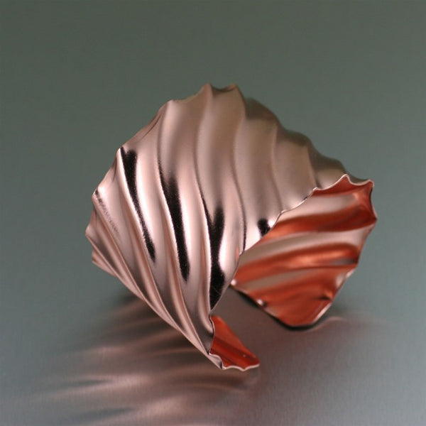 Fluted Copper Cuff