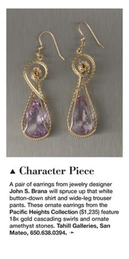 Pacific Heights 18K Gold Amethyst Earrings