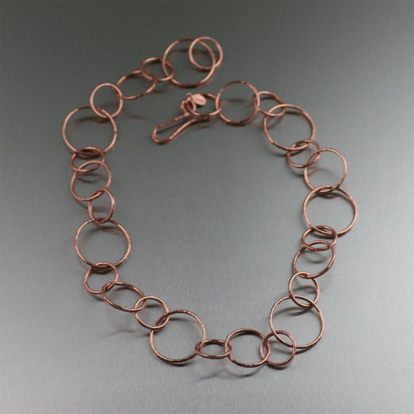 Hammered Copper Link NecklaceHammered Copper Link Necklace