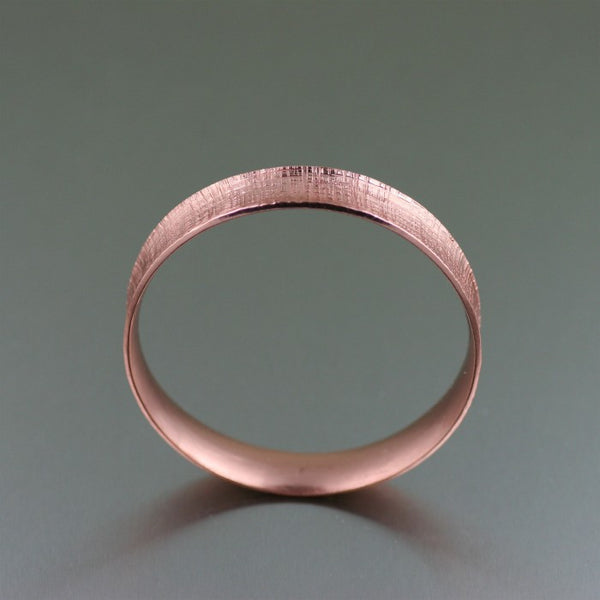 Linen Copper Bangle Bracelet – Front View