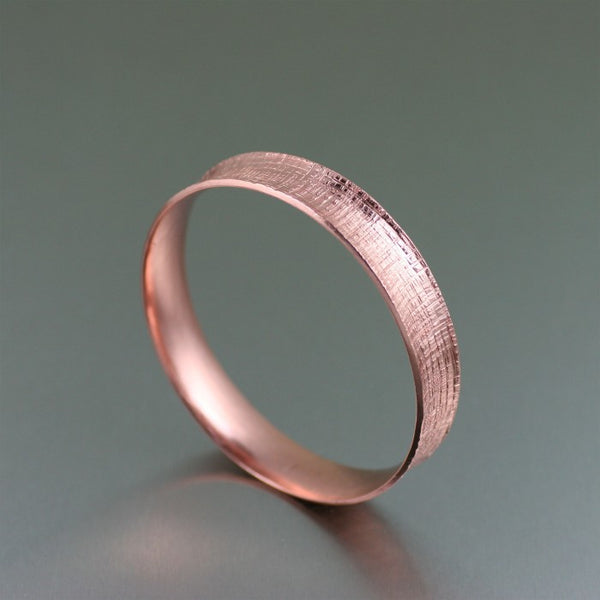 Linen Copper Bangle Bracelet – Right Side View