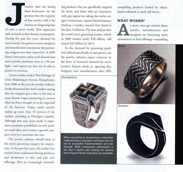 MJSA Features Mens Jewelry by Designer John S Brana