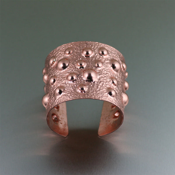 Moonscape Copper Cuff- Top