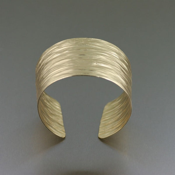 Nu Gold Bark Cuff Bracelet – Front View