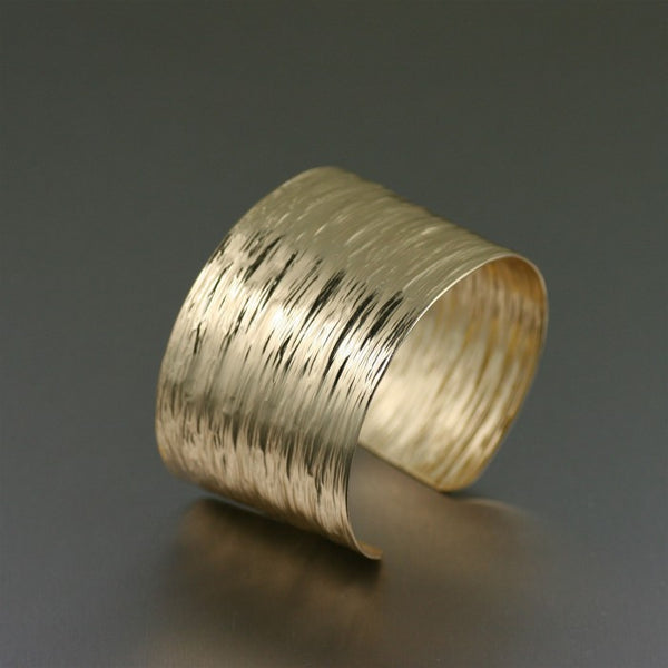 Nu Gold Bark Cuff Bracelet – Left View