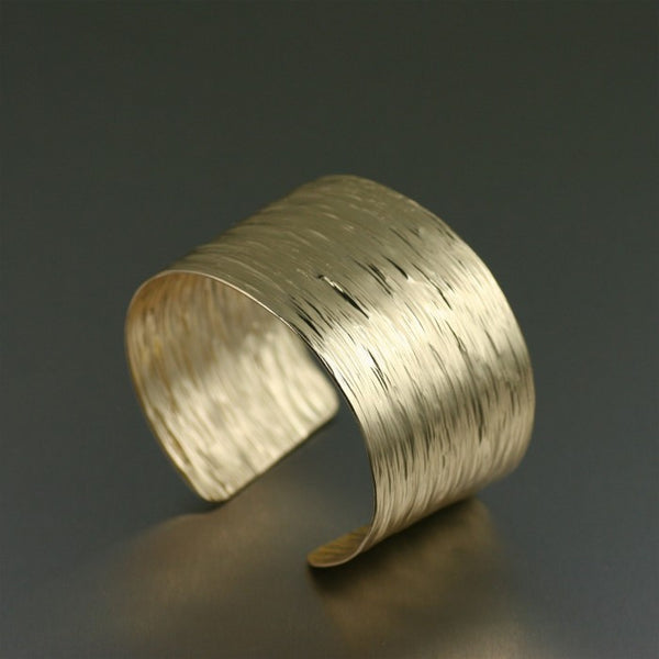 Nu Gold Bark Cuff Bracelet – Right View