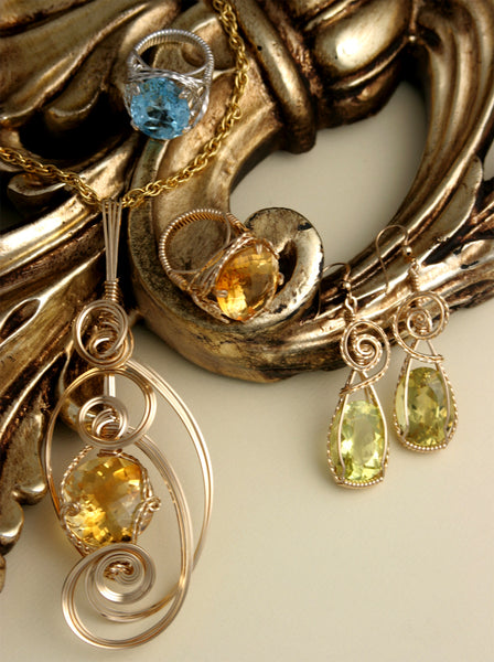 The Pacific Heights Faceted Colored Gemstone Jewelry Collection