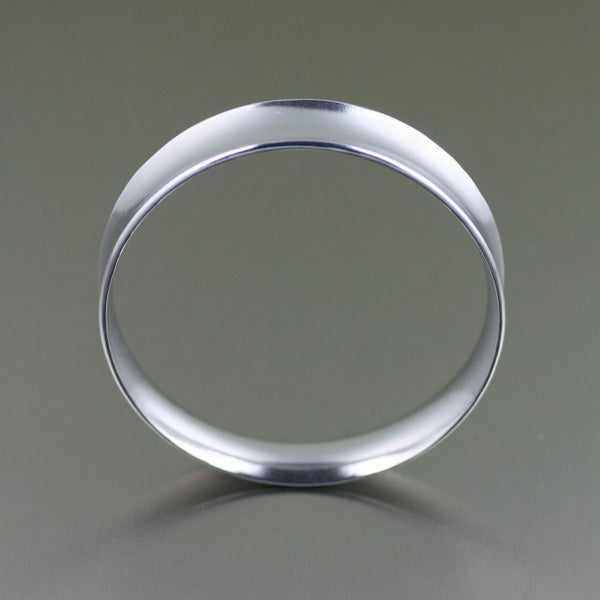 Polished Aluminum Bangle Bracelet – Front View