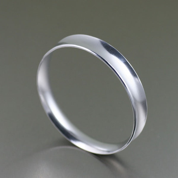 Polished Aluminum Bangle Bracelet – Right Side View