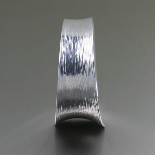 Tapered Bark Anticlastic Aluminum Bangle Bracelet – Side View