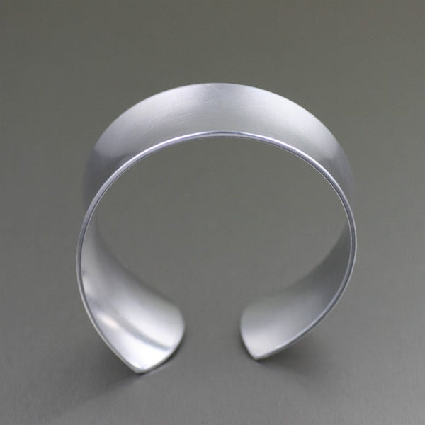 Tapered Brushed Anticlastic Aluminum Bangle Bracelet – Front View