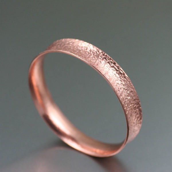 Texturized Anticlastic Copper Bangle Bracelet – Right Side View