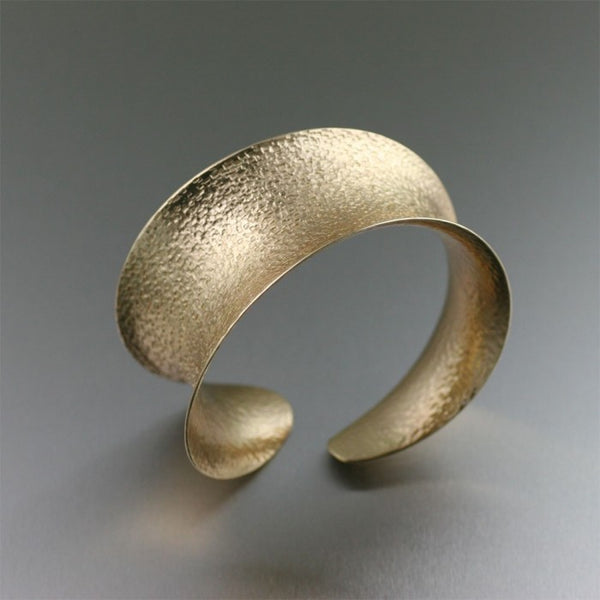 Texturized Nu Gold Anticlastic Bangle Bracelet