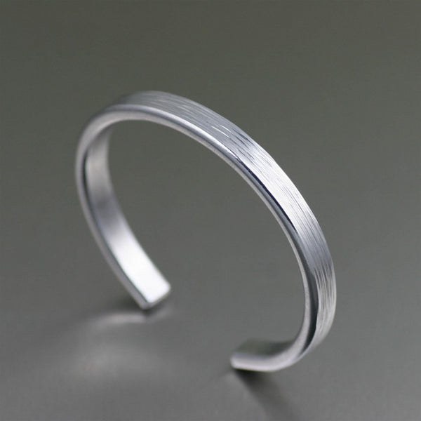 Thin Bark Aluminum Cuff Bracelet – Right View