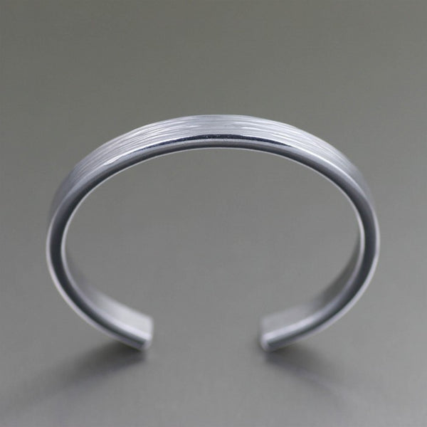 Thin Bark Aluminum Cuff Bracelet – Top View
