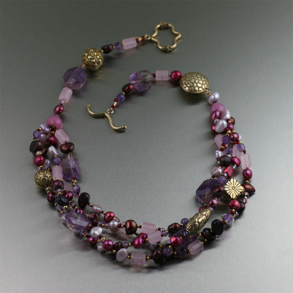 Faceted Amethyst Necklace - Barbary Coast Collection