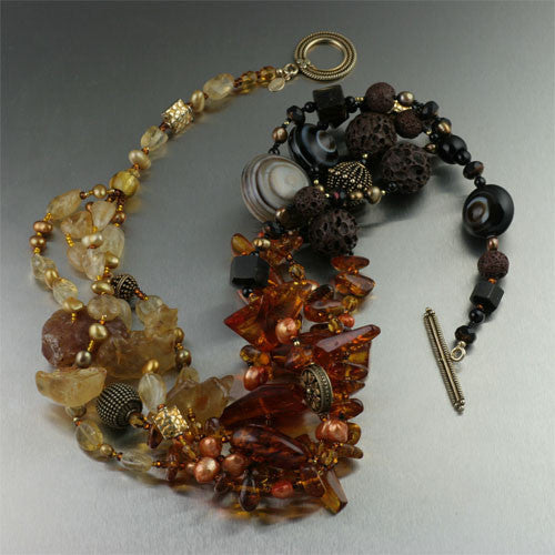 Baltic and Dominican Amber Necklace
