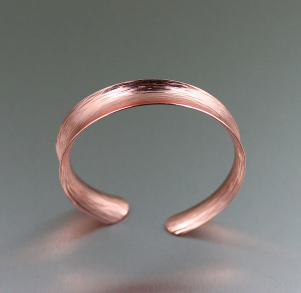 Copper Bark Anticlastic Bangle Bracelet - Front