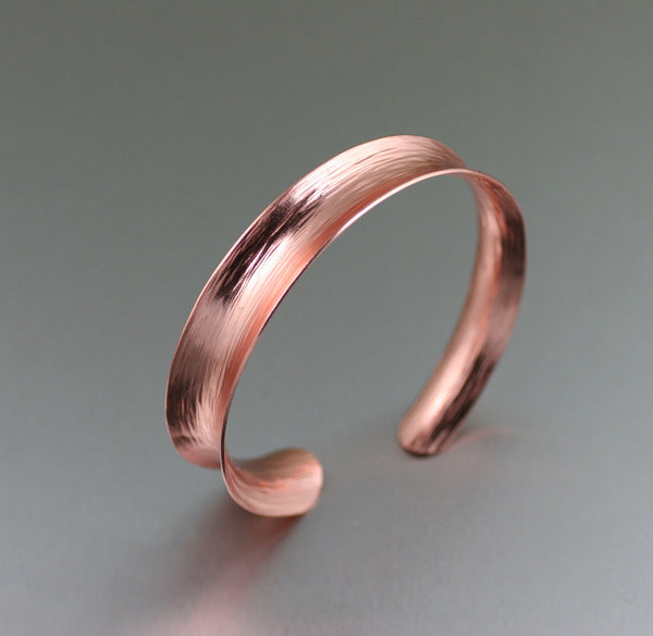 Anticlastic Bark Copper Bangle Bracelet