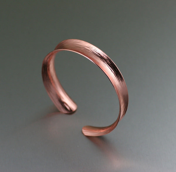 Copper Anticlastic Bark Bangle Bracelet
