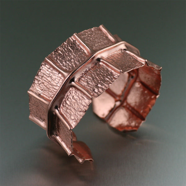 Copper Fold Formed Bangle Bracelet by jewelry designer John S Brana