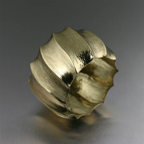 Fluted Nu Gold Brass Bangle Bracelet