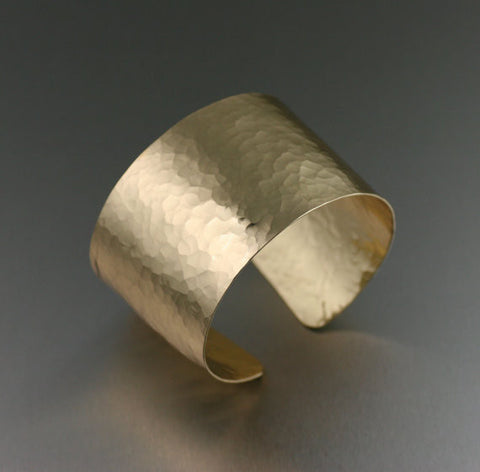 Hammered Nu Gold Brass Cuff Bracelet